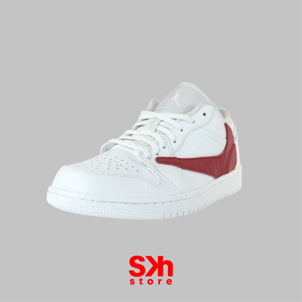 AIR JORDAN 1 LOW REVERSE SWOOSH RED