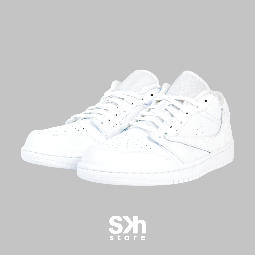 AIR JORDAN 1 LOW REVERSE SWOOSH WHITE