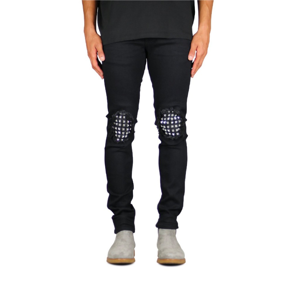 Hyper Denim Jet Black Studded jean